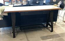 Shutter Console Table with Oak Top