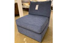 Milford Armless Chair in Blue