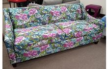 Blake Sofa in Floral Purple