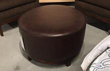 Fulton Ottoman in Leather