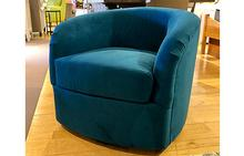 Omni Swivel Chair in Ultrasuede Aqua Marine