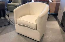 Sally Swivel Chair in White