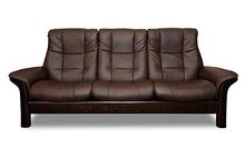 Buckingham Stressless Highback Sofa in Chocolate