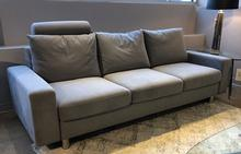 E200 Sofa in Ultrasuede Pewter
