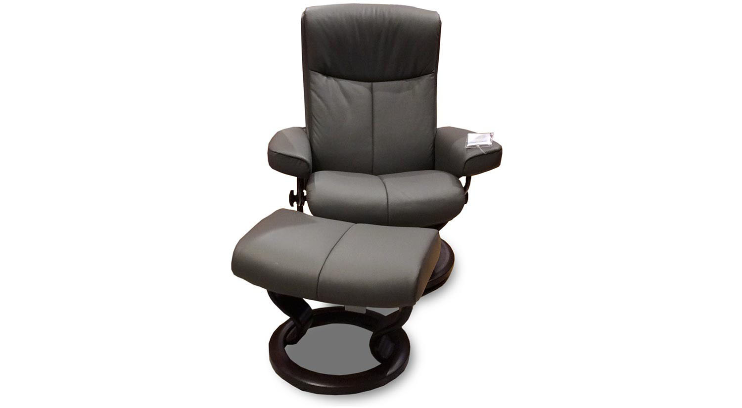 Circle Furniture Peace Stressless Chair And Ottoman In Grey