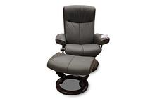Peace Stressless Chair and Ottoman in Grey