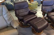 Capri Stressless Large Chair and Otto in Amarone