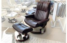 Crown Large Stressless Chair and Ottoman