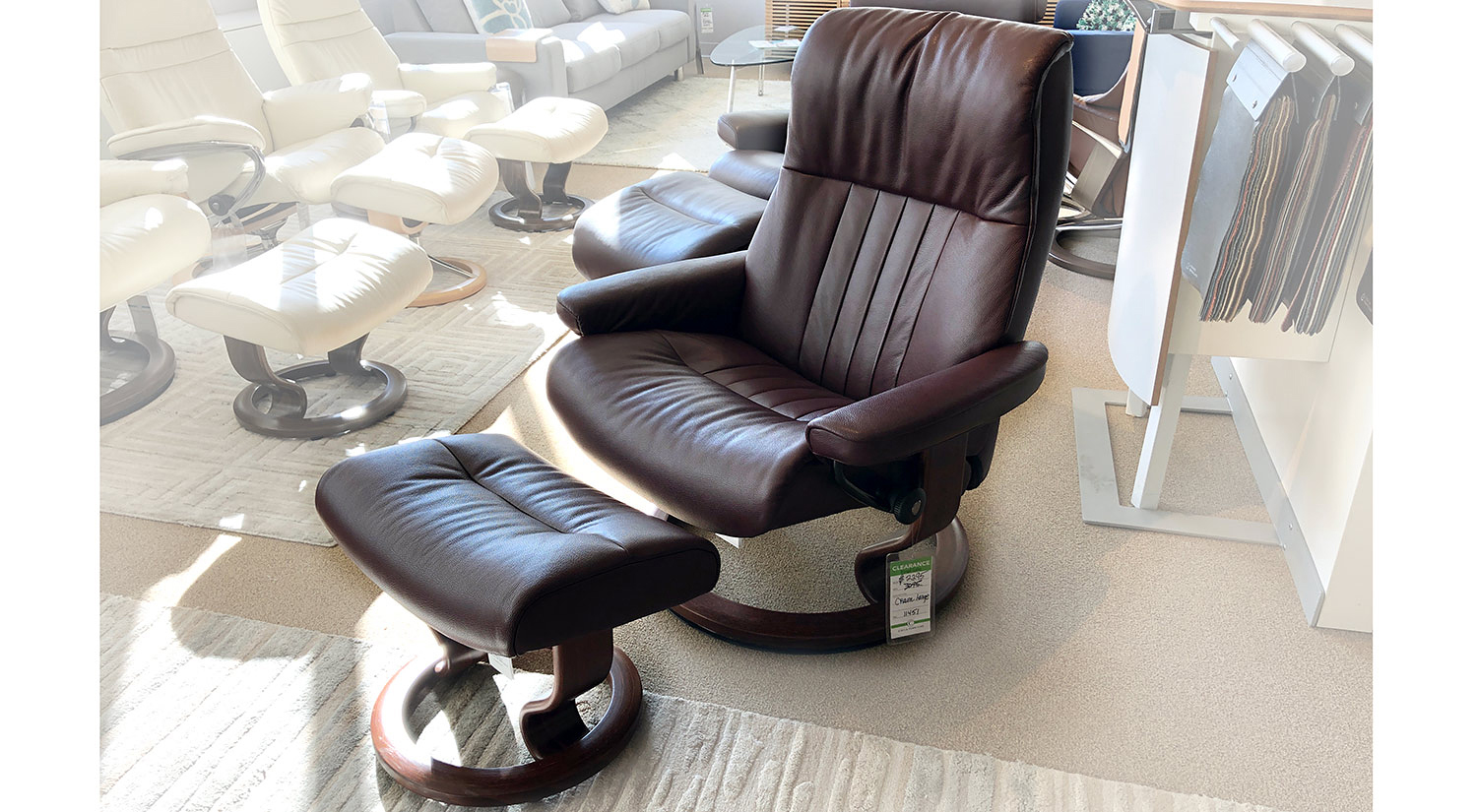 Circle Furniture Crown Large Stressless Chair And Ottoman