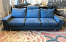 E200 Sofa in Ultrasuede Slate Blue