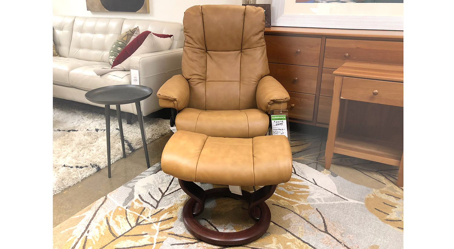 Mayfair Small Stressless Chair and Ottoman