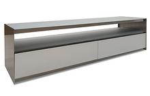 Absolute Media Console in Brushed Steel