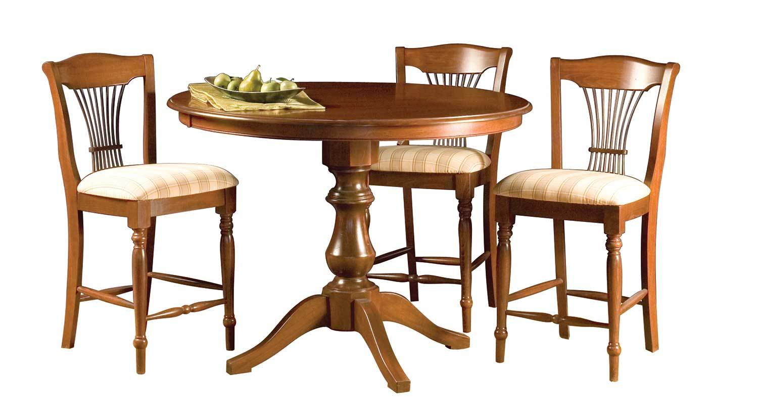 Circle furniture woodstock counter table classic for Circle furniture dining tables