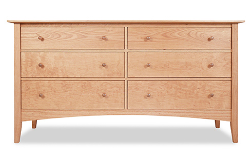 Canterbury 6 Drawer Dresser in Natural Cherry