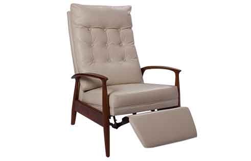 Viceroy Recliner in Ivory Leather