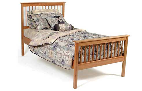 Shaker Spindle Twin Bed