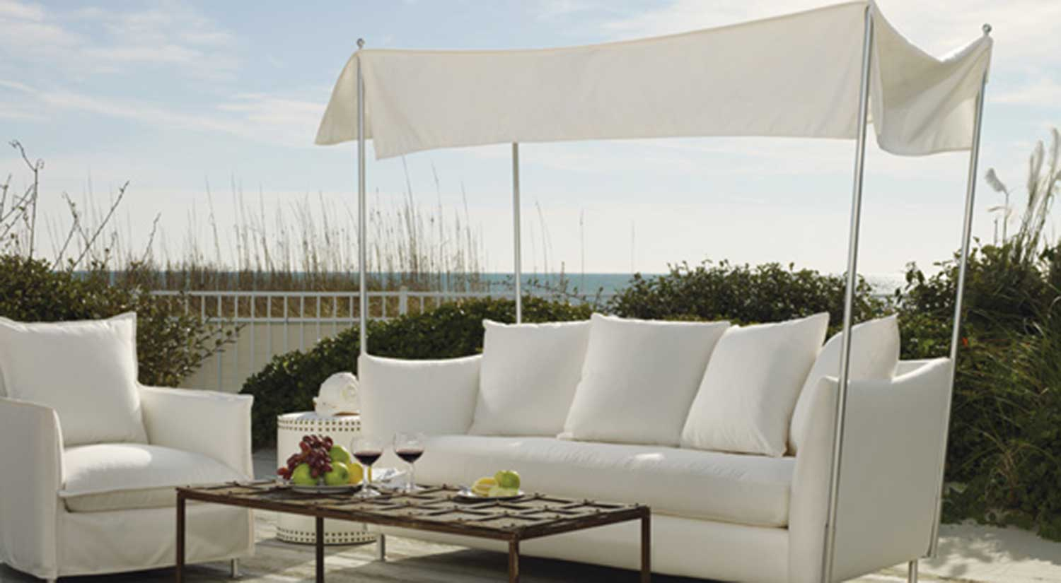 Circle Furniture - Oleander Outdoor Sofa With Canopy | Outdoor Furniture