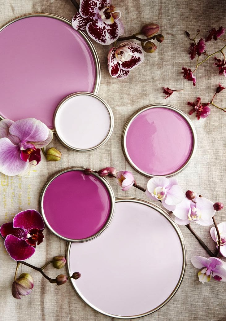 shades of orchid on Lisa Mende Design