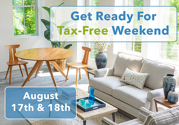 Tax-Free Weekend is August 17th and 18th