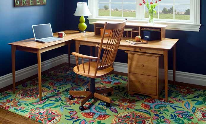 Format Black And Charcoal Kidney Desk Sarah Office Preston