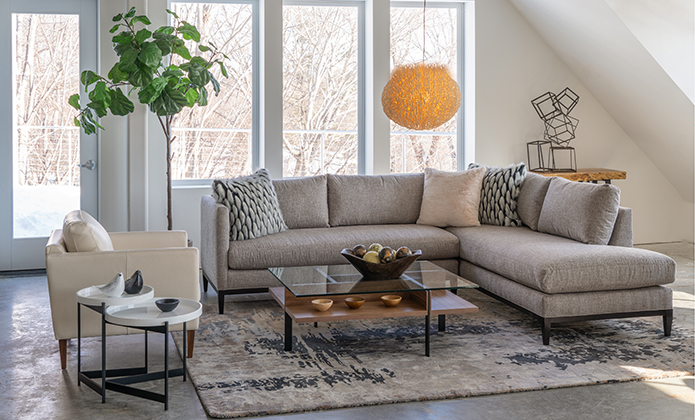 Fiona Sectional & Soft Curve Chair